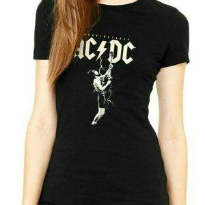 ACDC Thunderstruck Women Graphic Top Black T-shirt